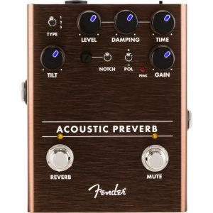 Pédale d'effets Fender Acoustic Preverb - FOTELEC